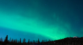 Christmas Northern Lights Stock Photo