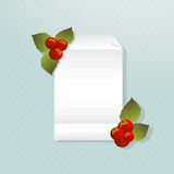Christmas note Stock Image