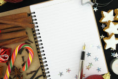 Christmas note book Stock Photo