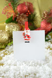 Christmas note card Royalty Free Stock Photo