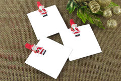 Christmas note cards Stock Image
