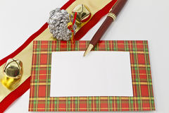 Christmas Note, Open Space Royalty Free Stock Photography