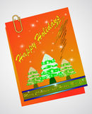 Christmas note paper Royalty Free Stock Photos