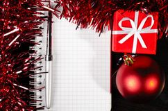 Christmas notes Stock Image
