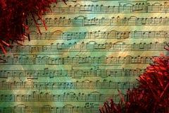 Christmas notes grunge background Stock Photo