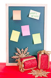 Christmas notice board Stock Image