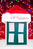 Christmas notice board with santa hat Royalty Free Stock Photography