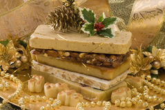 Christmas nougat Stock Photos