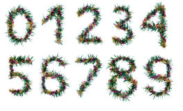 Christmas number decorations royalty free stock image
