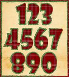 Christmas numbers Stock Photography