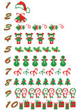 Christmas Numbers Set Royalty Free Stock Photography