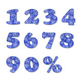 Christmas numbers set Royalty Free Stock Images