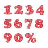 Christmas numbers set Royalty Free Stock Photos
