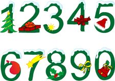 Christmas numeral. On the white background Stock Photos