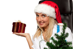 Christmas nurse Royalty Free Stock Photos