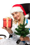 Christmas nurse Stock Images