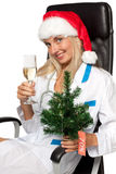 Christmas nurse Stock Photos
