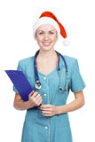 Christmas nurse Stock Photography