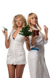 Christmas nurses Stock Image