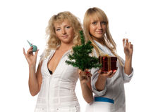 Christmas nurses Royalty Free Stock Images