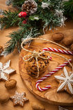 Christmas nut and chocolate cookies Royalty Free Stock Photography