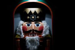 Christmas nutcracker during a christmas market royalty free stock images