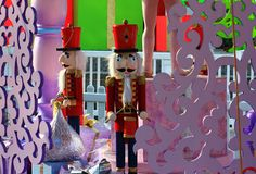 Christmas Nutcracker doll in an outdoor display Royalty Free Stock Photo