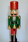 Christmas Nutcracker. Figurine,  white background Stock Photos