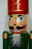 Christmas Nutcracker. Figurine,  white background Stock Images