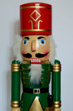 Christmas Nutcracker. Figurine,  white background Royalty Free Stock Photography