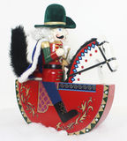 Christmas Nutcracker on a Horse Stock Images