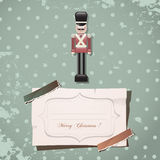 Christmas nutcracker soldier. Vintage toy Stock Photography