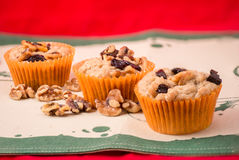 Christmas Nuts and Raisins Muffins Royalty Free Stock Photos