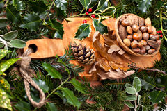 Christmas nuts Stock Images