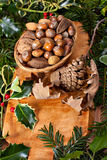 Christmas nuts Royalty Free Stock Photo