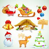 Christmas Object. Illustration of set of Christmas object for design Stock Photography
