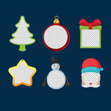 Christmas Object Design Frame Set Vector Stock Photos
