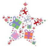 Christmas object gifts, stars Royalty Free Stock Photo