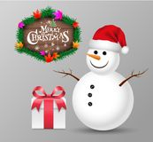 Christmas object set. Christmas object for greeting card. Vector illustration Stock Photo