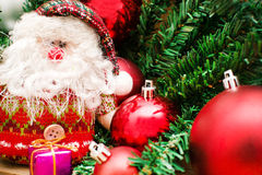 Christmas object and Santa Claus Royalty Free Stock Photography