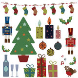 Christmas objects royalty free illustration