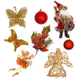Christmas objects Royalty Free Stock Photo