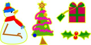 Christmas objects Royalty Free Stock Images