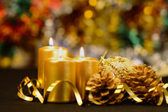 Christmas objects of decoration Stock Photography