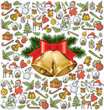 Christmas objects and elements Royalty Free Stock Images