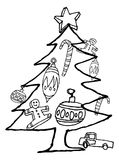 Christmas Objects Sketch Stock Photo