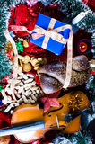 Christmas objects still life Stock Images