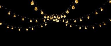 Free Christmas Of Wedding Lights Isolated On Black Royalty Free Stock Image - 164442116
