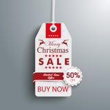 Christmas 50off Price Sticker Emblem Royalty Free Stock Photo