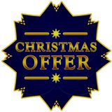 Christmas offer label stock illustration